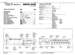 ROLAND_TD-7_SERVICE_NOTES