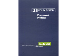 Dolby 361 User's Manual