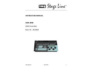 Img Stageline Dmx 4840 Instruction manual