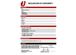 Showtec XS-2 Déclaration de Conformité CE - EMC LVD Directive