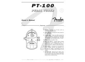 Fender PT 100 User Manual