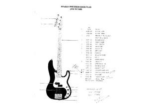 Fender Precision Bass Plus diagram