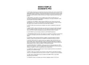 Soundbite_Pro_French_Manual