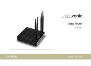 English Manual of Swissonic Basic Router
