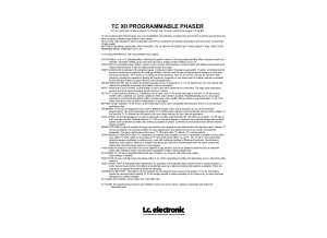 TC XII owners manual