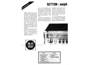SETTON RS-660 Avis