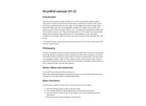 DRUMKID-Manual