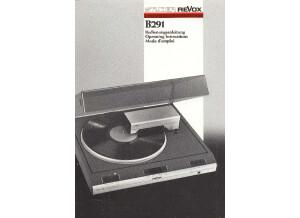 Revox B291 Owners Manual