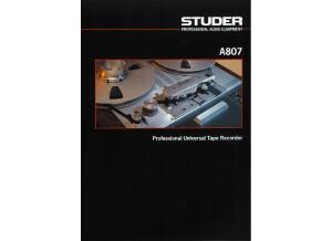 Studer A807 brochure