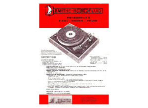 Barthe Rotofluid pro3 Owners Manual