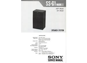 Sony SS-G1 mkii