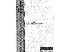 Akai DR4 - Owner's Manual