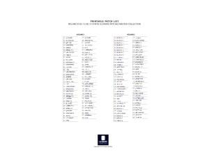 PRINTABLE PATCHLIST - D-05+D-50 Volumes 1-4