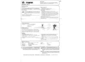 Thomann - Clip Tuner - CTG-10 - User Manual - English