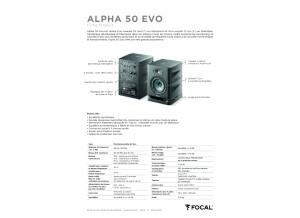 Fiche produit Focal Alpha 50 EVO