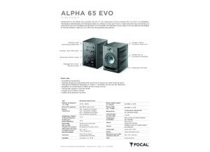 Fiche produit Focal Alpha 65 EVO