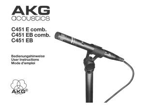 AKG C451 E/EB User Manual