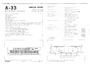 Roland A-33 - Service notes