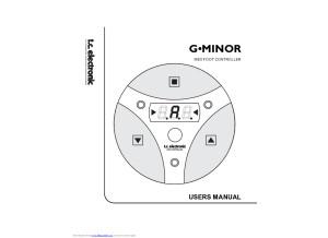 TC Electronic G-Minor Manual