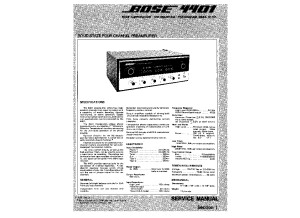 Bose 4401 Service Manual