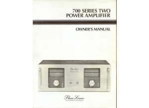 Phase Linear 700- S2 Owners Manual
