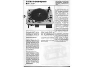 EMT 930 brochure