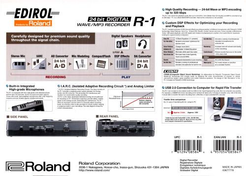 Edirol R-1 (21005)