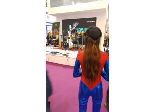Artist Adriel Pires with wonder spider woman 3