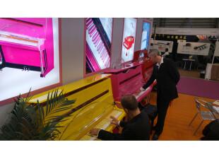 Colorful pianos