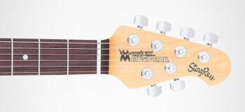 Music Man StingRay Guitar : MC STINGRAY TSUNBURST HEADSTOCK 1
