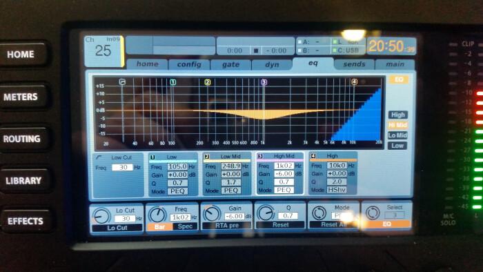 Behringer X32 Producer : 28 EQ pantalla X32 Pro