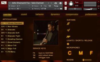 Diamanti Fox Clarinet GUI