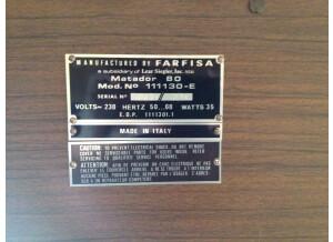 Farfisa Matador 80