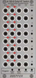 Doepfer A-150-8 Octal Manual/CV Programmable Switches : A1508 HR