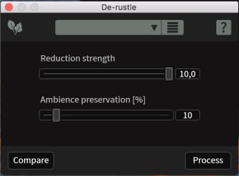 iZotope RX 6 Advanced : derustle