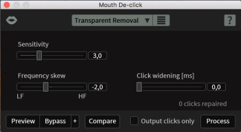 iZotope RX 6 Standard : mouthdeclick