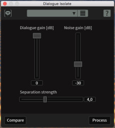 iZotope RX 6 Standard : dialogueisolate