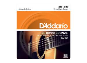 D'Addario 80/20 Bronze Wound Acoustic Guitar