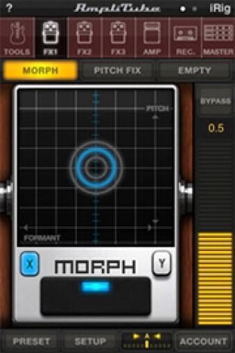 AmpliTube 2.2 for iPhone - Morph