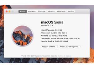 Apple imac i7 27' (71142)