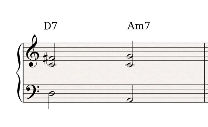 D7 Am7