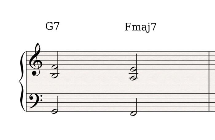G7 Fmaj7