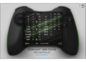 Ocean Swift Synthesis Xbox360 and PS3/PS4 MIDI Control v2