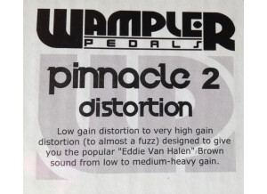 Wampler Pedals Pinnacle Distortion Limited