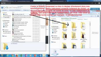 Native Instruments Kontakt 6 : 4 copier de la zone de telchargement vers la zone de localisation