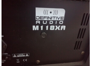 Definitive Audio m118xa