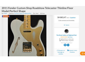 Fender Custom Shop Roadshow 2011 Telecaster Thinline (675)