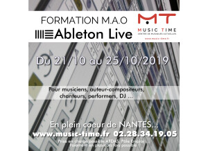 Stage Ableton MUSIC TIME NANTES