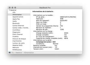 MacBook Pro Retina Batterie