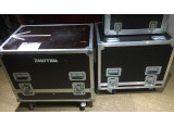 Flight case transport pour 2 enceintes 2 X12 -LA - 2 amplis guitares etc...
